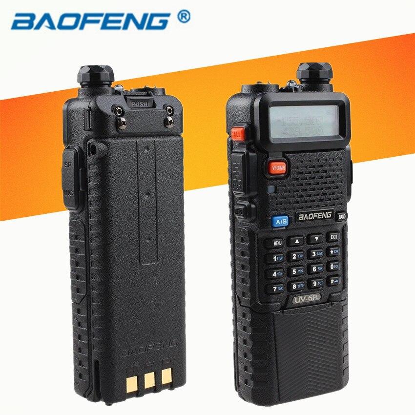 imágenes para CB Radio Walkie talkie de Doble Banda Baofeng UV-5R 3800 mAh Max 5 w Transmisor de Radio de Jamón de Radio de Dos Vías uv5r Raido hf transceptor