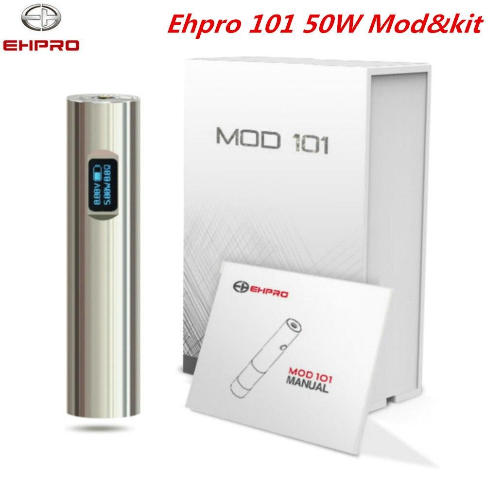 все цены на Original Ehpro 101 mod & kit 50w vape 0.49 OLED screen fit 18650&18350 Battery NITC/TITC/SSTC/Wattage/By pass Mode E Cigarette онлайн