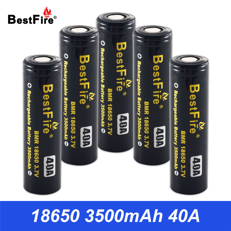 18650 Battery 3.7V Li-ion Rechargeable Battery 3500mAh 40A for Flashlight Torch Light VS HG2 for Sigelei Fuchai 213 Mod B042