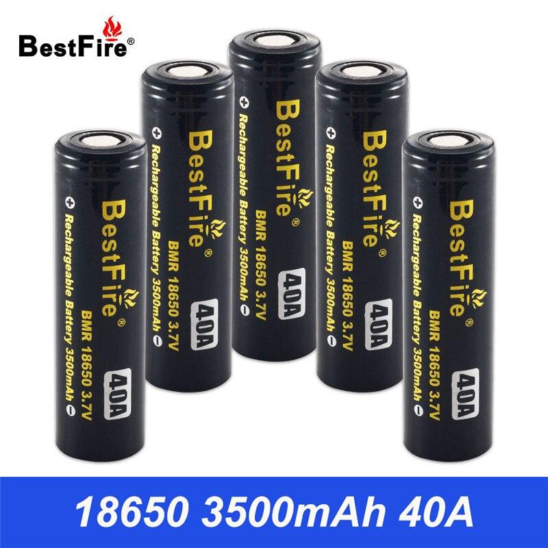 18650 batterie batterie Rechargeable 3500 mAh 40A pour Vaporesso Luxe SWAG Revenger Voopoo SMOK Wismec Vape Mod VS VTC6 VTC5 B042