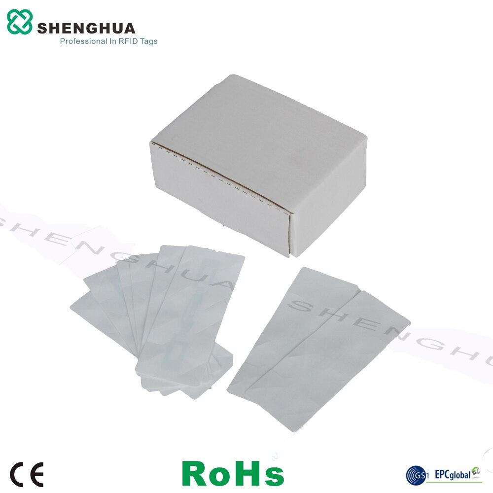 50pcs/lot Access Control RFID Label Destructible Uhf RFID Windshield Tag Sticker Printable For Long Range Rfid Passive Reader