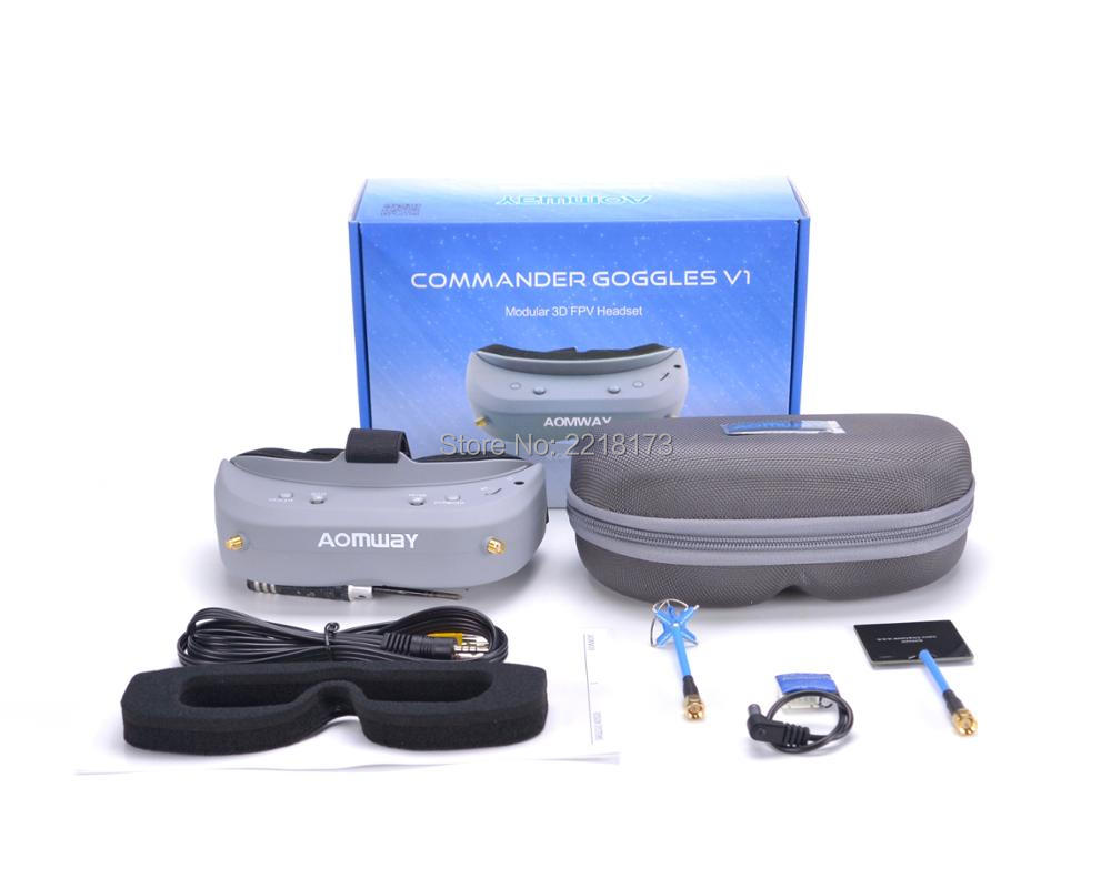 Aomway Commander FPV Goggles 40CH 5.8G 854*480 Resolution FPV Video Headset Glasses Support HDMI DVR NTSC / PAL цена 2017