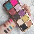 Горячая Women10 цвета Яркие Красочные Теней Для Макияжа супер составляют набор флэш-Блеск тени для век Косметической Палитры