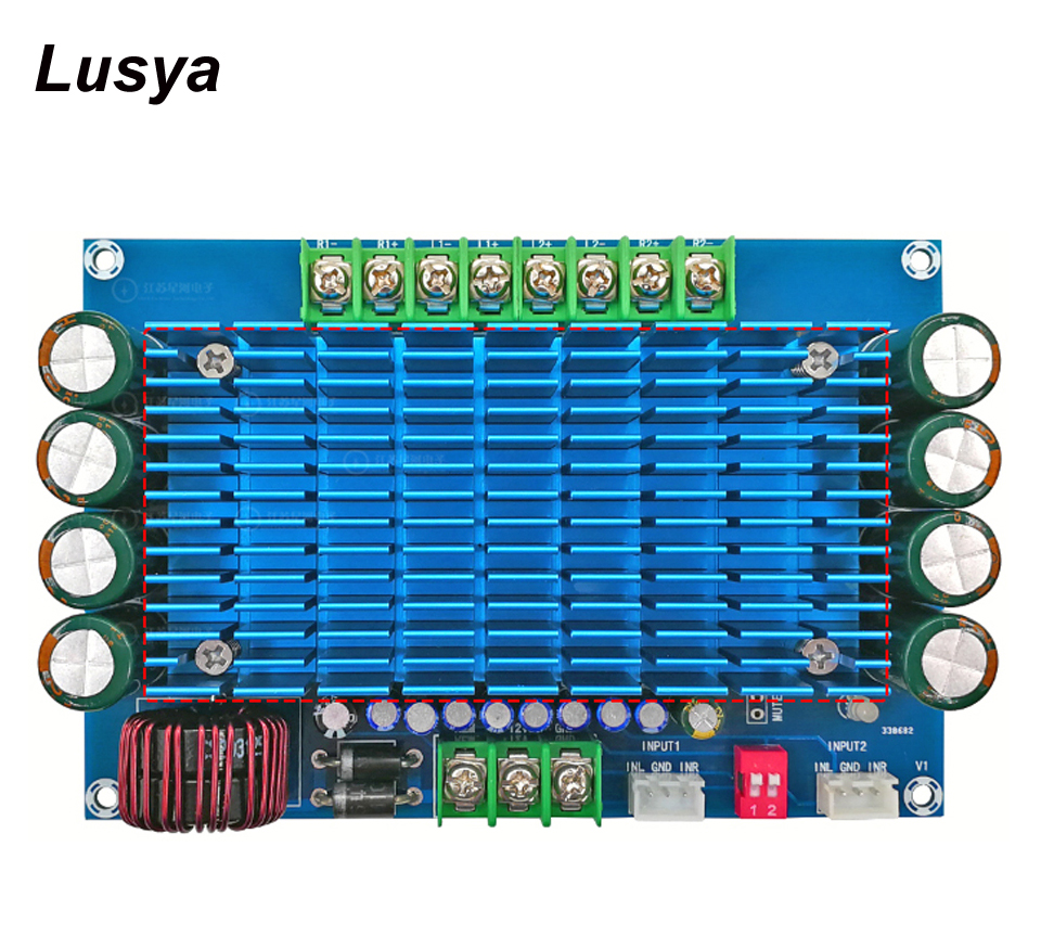 XH M180 TDA7850 DC 12V 50W*4 Switchable Channel Super Power Audio Amplifier Board for Car G1 011