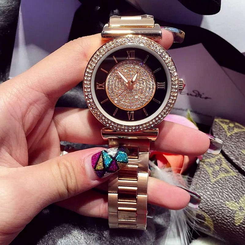 2017 New Fashion Ladies Watches Top Brand Bling Crystal Rhinestone Watch for Women Luxurious Quartz Desinger Watches Rose Gold все цены