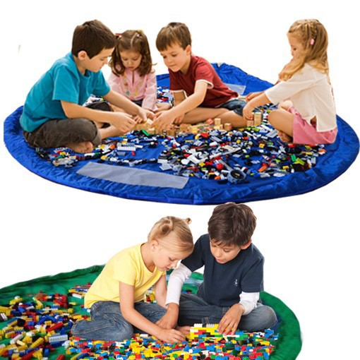 Large Portable Kids Toy Organizer Storage Bag Play Mat For Lego Rug Box New