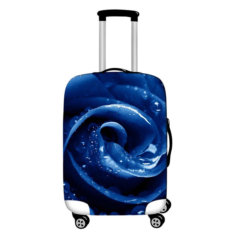 Fashion Travel Suitcase Cover For 18 28 quot Trolley Rolling Luggage Bag Rose Print Carry On Suitcase Protective Covers in Travel Accessories from Luggage amp Bags