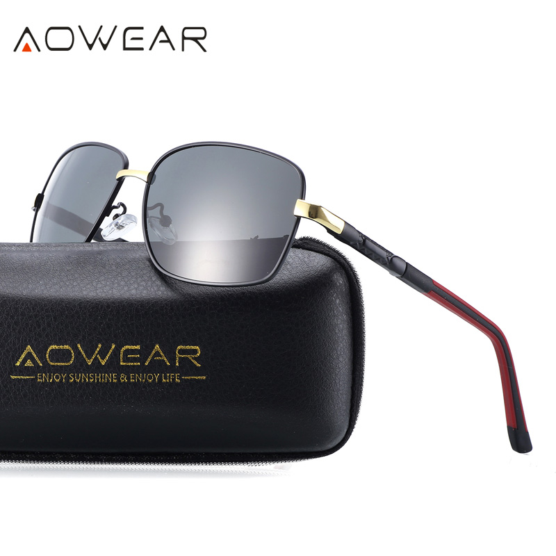 AOWEAR Aluminum Mens Polarized Sunglasses Men Coating Mirror Fishing Driving Glasses Wom ...