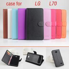 9 видов цветов классический кожаный чехол для LG L70 L 70 откидная крышка корпуса с карт памяти для LGL70 телефон случаях