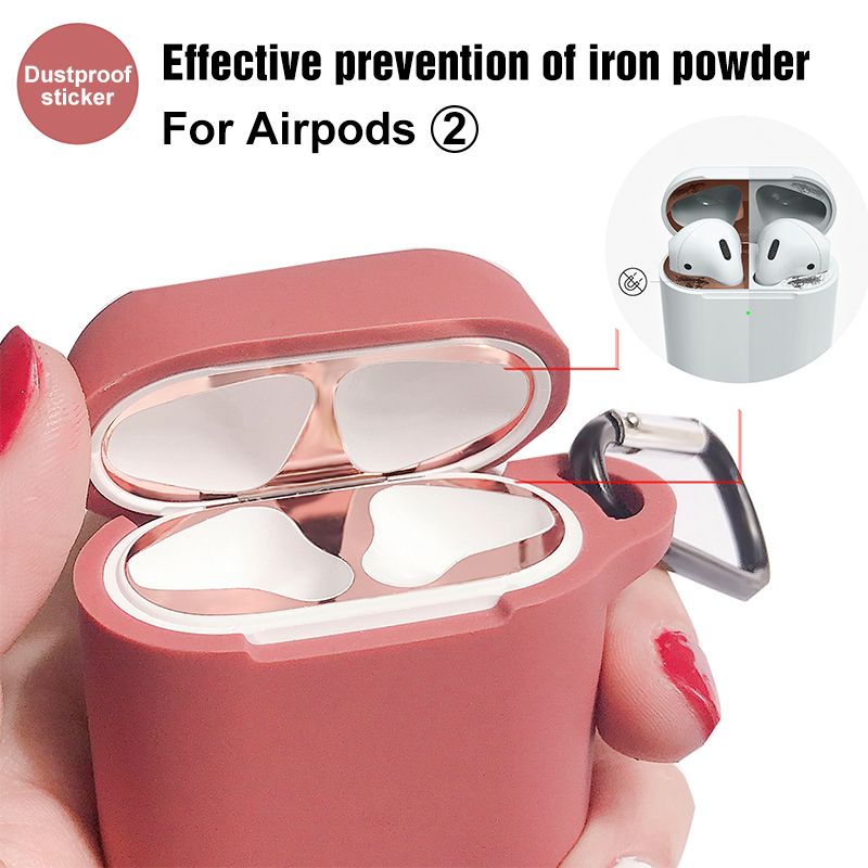 Internal Metal Dustproof Sticker For Apple AirPods 2nd Case Dust Patch For Air Pods 2 Case Protection Sticker Accessories