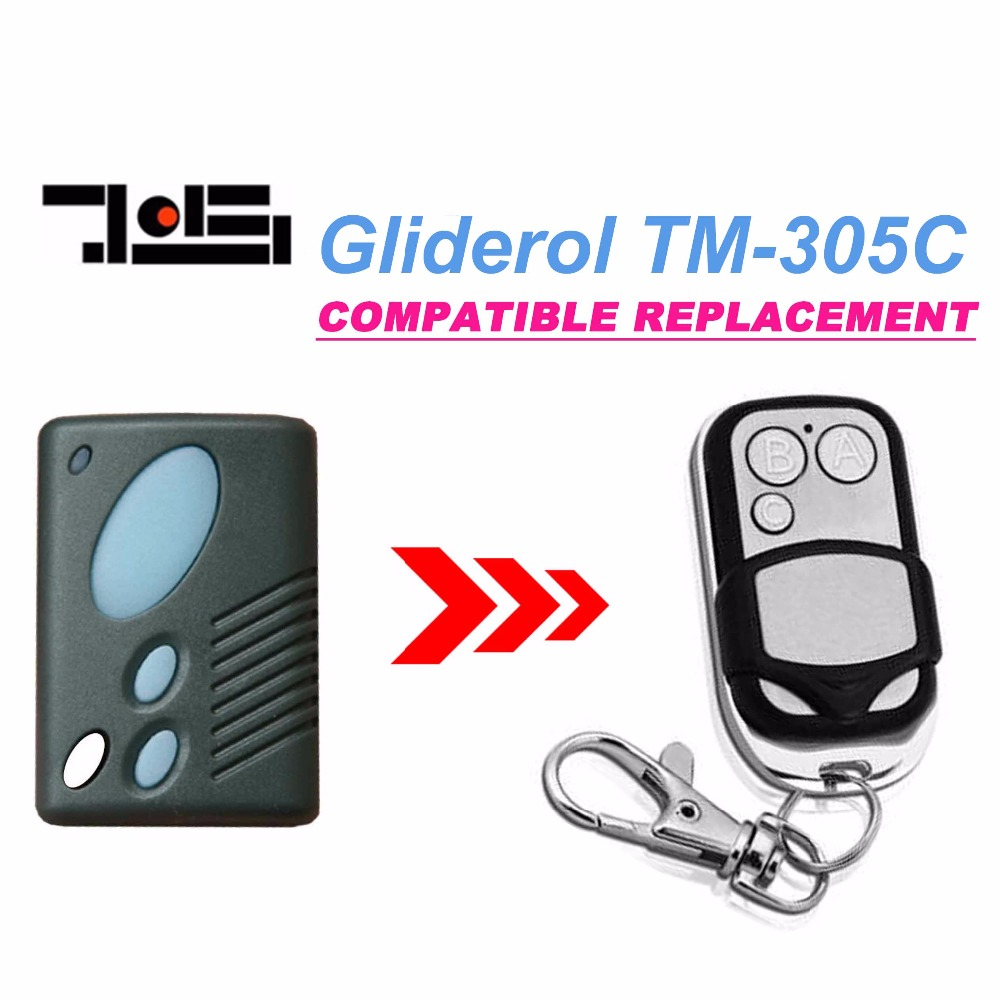 Gliderol TM305C Garage Door replacement Remote transmitter radio control top quality boss centurion guardian lynx mofor dern steel line garage door radio control 303mhz bht4 2211 l replacement remote