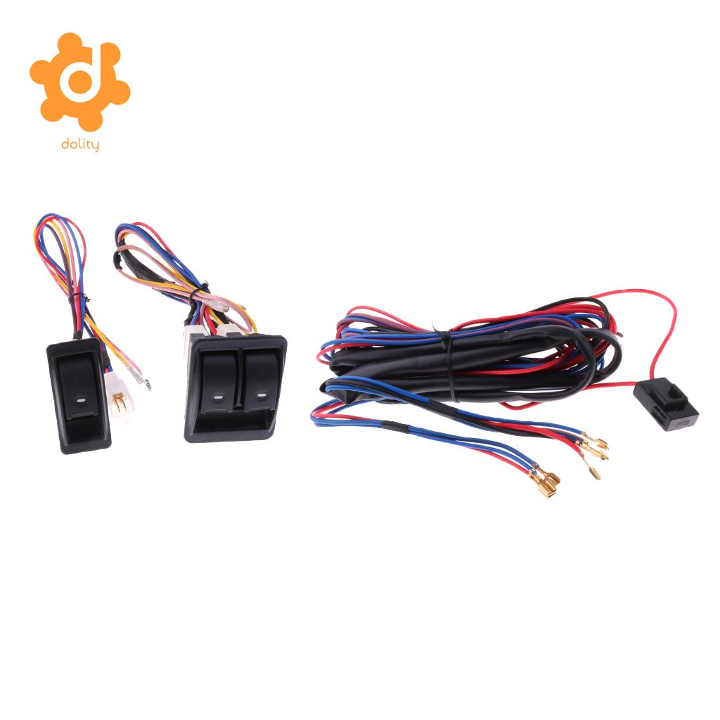 Dolity 3 Pieces Car Electric Power Window Master Control Switch With Wire Harness Wiring In Switches Relays From Automobiles Motorcycles On