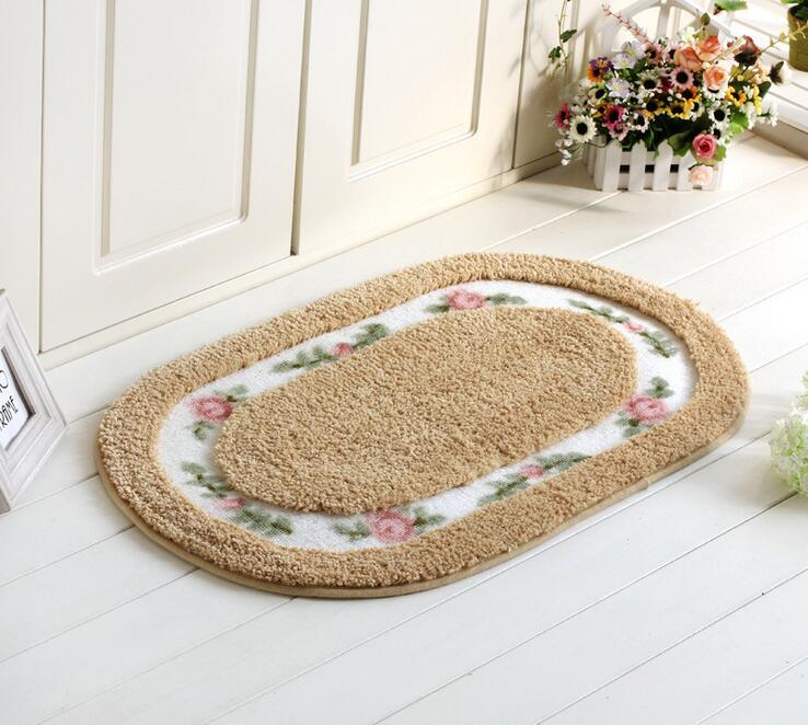 online shop oval shape suede carpet living dining bedroom area rugs slip resistant floor mats washable bathroom carpet multicolor soft mat aliexpress