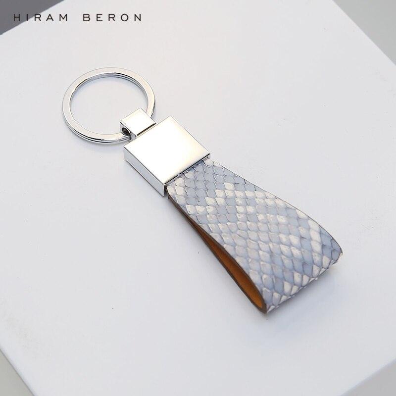 Hiram Beron clé titulaire organisateur serpent peau exotique en cuir accessoires personnalisé initiales livraison directe service livraison directe