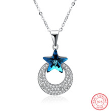 Crystals from Austria  necklace, star set crystal necklace collarbone chain, women fashion jewelry accessories wholesale