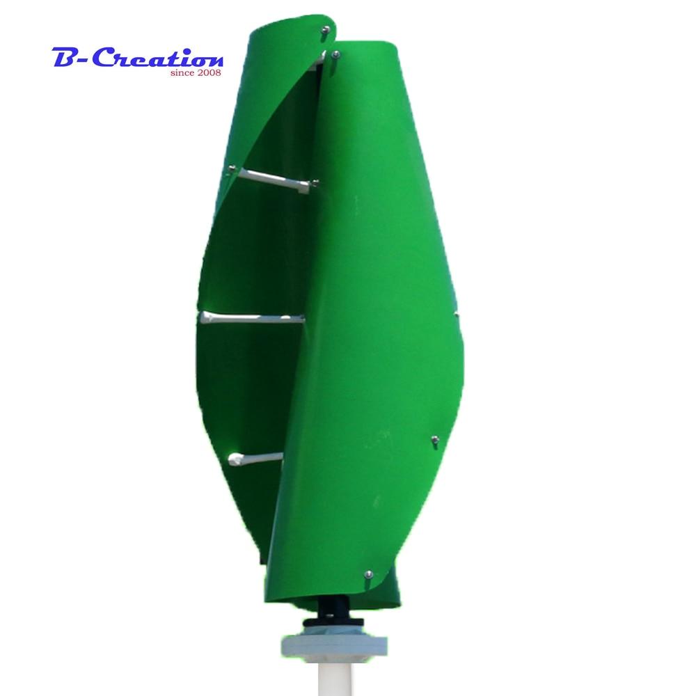цена на New Wind turbine start up green white orange maglev wind generator 400w 12v 24v vertical axis wind turbine with 600w controller