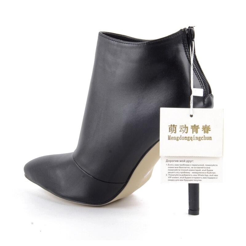9e421aca 2016 Nueva moda para mujer Suede punta estrecha Botines estilete atractivo  Tacones altos mujeres Zapatos negro y rojo zapatos .
