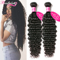 Indian Virgin Hair Deep Wave 3 Bundles Indian Curly Virgin Hair Deep Curly Weave Human Hair Extensions Wavy Indian Hair Bundles