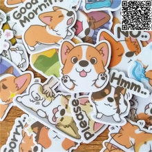 36 pcs fo'r Kids Fun Papier Stickers Zelfgemaakte Corgi leuke Boekhouding Decals op Laptop/Decoratieve scrapbooking/DIY stickers(China)