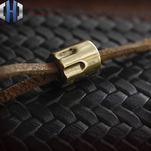 DIY Brass Knife Beads Copper Material Making Knife Handle CNC Keychain Pendant EDC Multi Tools Paracord Beads