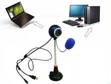 Free Drive USB 2.0 PC Camera Webcams Microphone 30FPS 1.2m USB Computer Web Camera For Skype MSN Laptop Notebook Picture Video