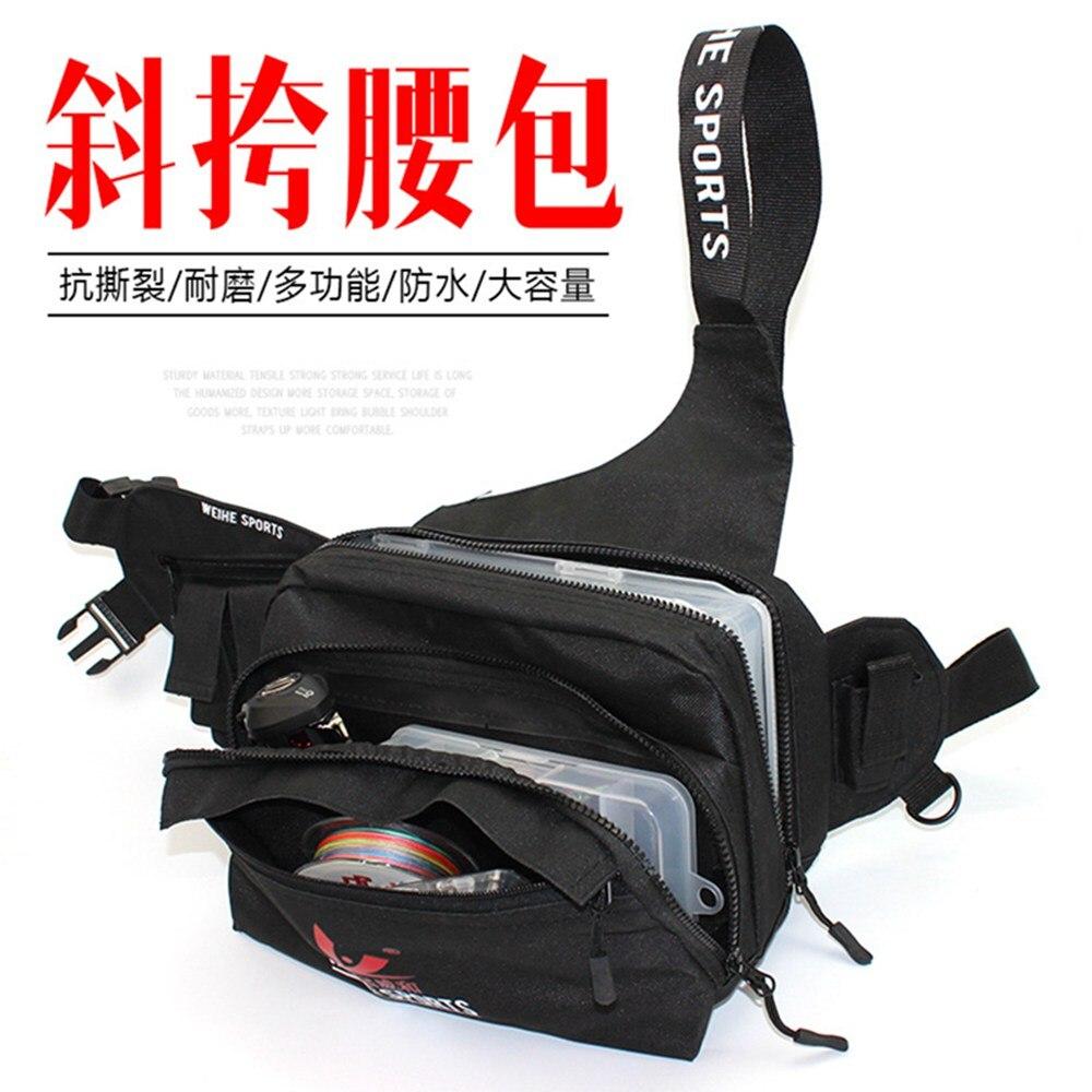 Hot Abu Garcia Black 600d Nylon Multi Pocket Fishing Bag Outdoor Products Square Backpack Tackle Waterproof Pockets Waist Shoulder Reel Lure Bags