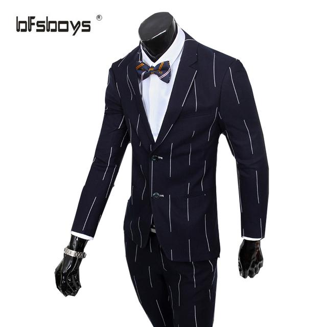 (Casacos + Calça + colete) 2016 business casual ternos de alta qualidade dos homens chegada masculino fino terno triângulo conjunto terno formal vestido de noiva