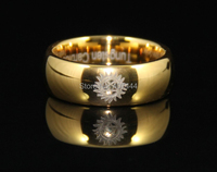 Free Shipping USA UK Canada Russia Brazil Hot Sales 8mm Golden Dome Supernatural Men S The