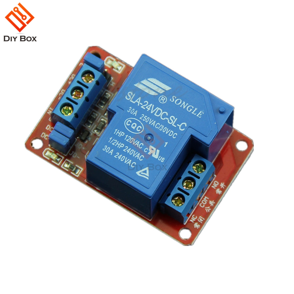 30A 5V 12V 24V 1-Channel Relay Module Board With Optocoupler H//L Level Triger