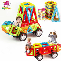 82 192pcs Big Size Magnetic Designer Construction Set Model & Building Toy Magnets Magnetic Blocks Educational Toys For Children
