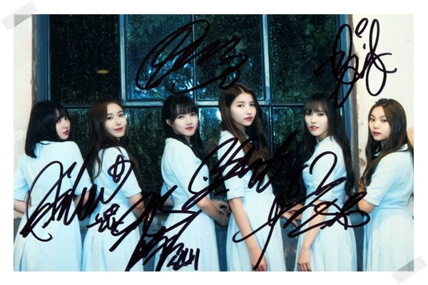 signed GFRIEND autographed group photo RAINBOW K-POP  6 inches free shipping 102017A signed infinite jang dongwoo dong woo autographed photo k pop 6 inches free shipping 102017
