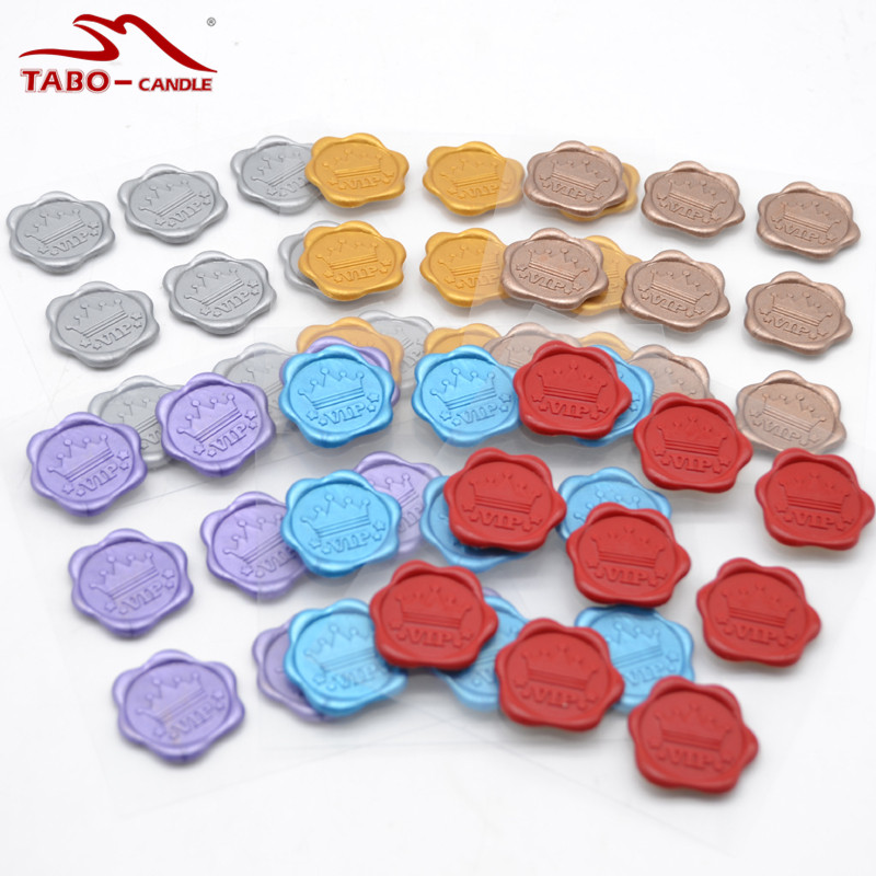 VIP Design Sealing Wax Stickers In 7 Mixed Colors for Greeting Card High-end Product Wedding Invitation Packing Decoration 1 design laser cut white elegant pattern west cowboy style vintage wedding invitations card kit blank paper printing invitation