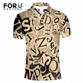 FORUDESIGNS 2017 New Arrival 3D Letters Print Polo for Man Supreme Design Shirt Men Brand Clothing Dress Polo Breathable Shirts