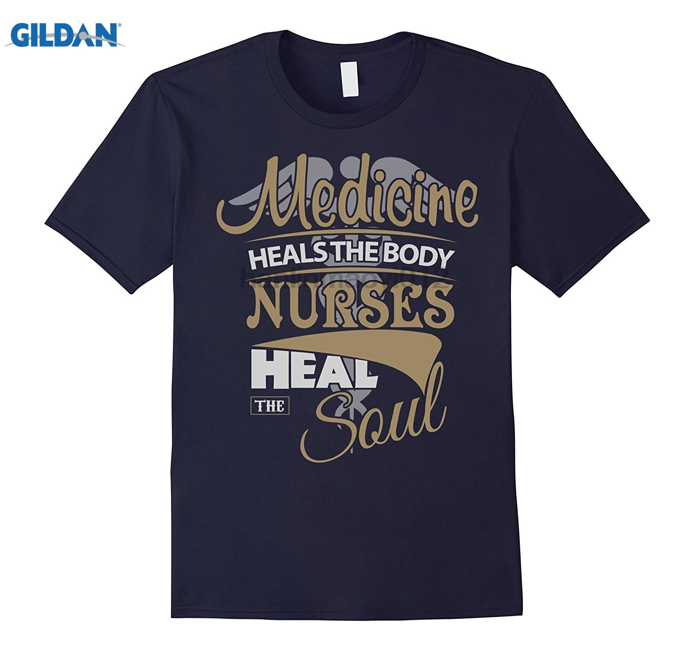 GILDAN Medicine Heals The Body Nurses Heal The Soul T Shirt dress T-shirt dress T-shirt