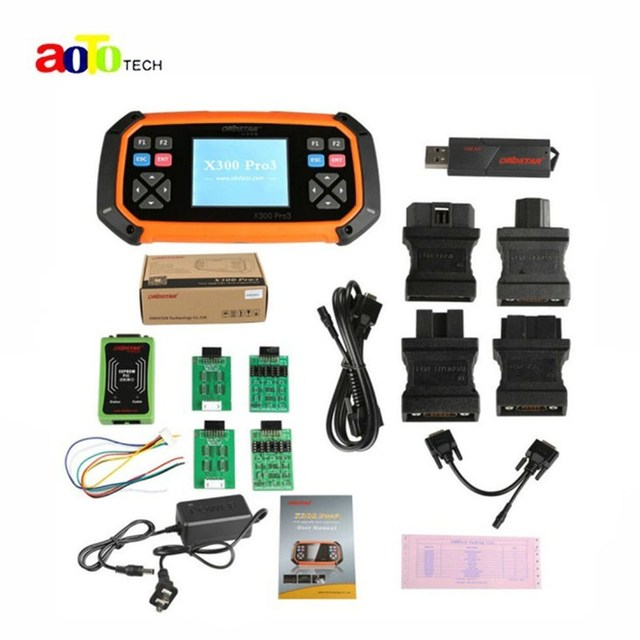 Original OBDSTAR X300 PRO3 Key Master with Immobiliser + Odometer Adjustment +EEPROM/PIC+OBDII Standard Configuration