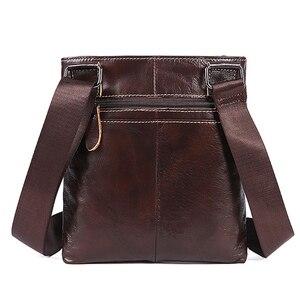 Image 2 - MVA Messenger Mens Bag shoulder Mens Genuine Leather bag Flap Small male man Crossbody bags for men natural Leather bags 703
