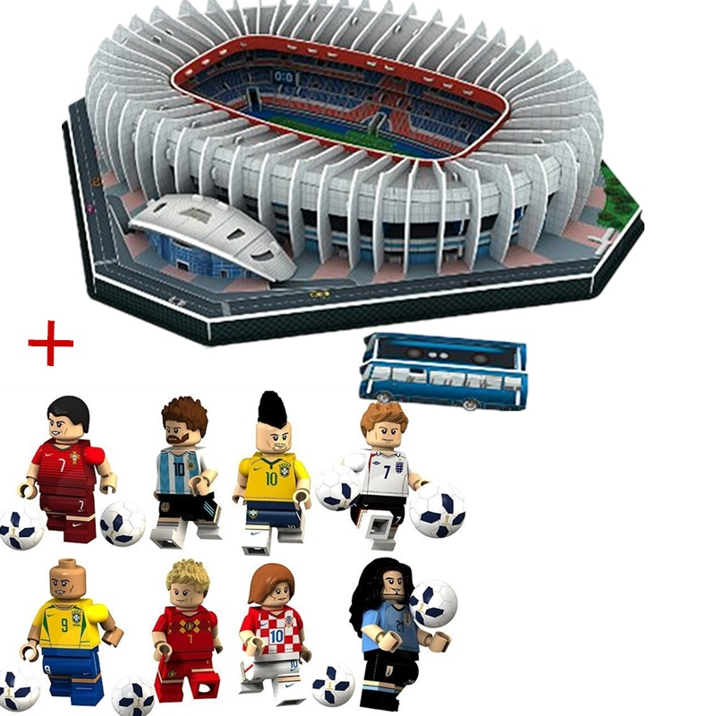 HOT NEW Jigsaw 3D Puzzle Architecture Stadio France Parc des Princes Football Stadiums Toys Model Sets