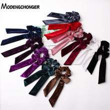 For Women Hair Ties Velvet Scrunchie Elastic Band Bow Rope Sweet Cute Ponytail HeadBand Girls Fashion Accessories