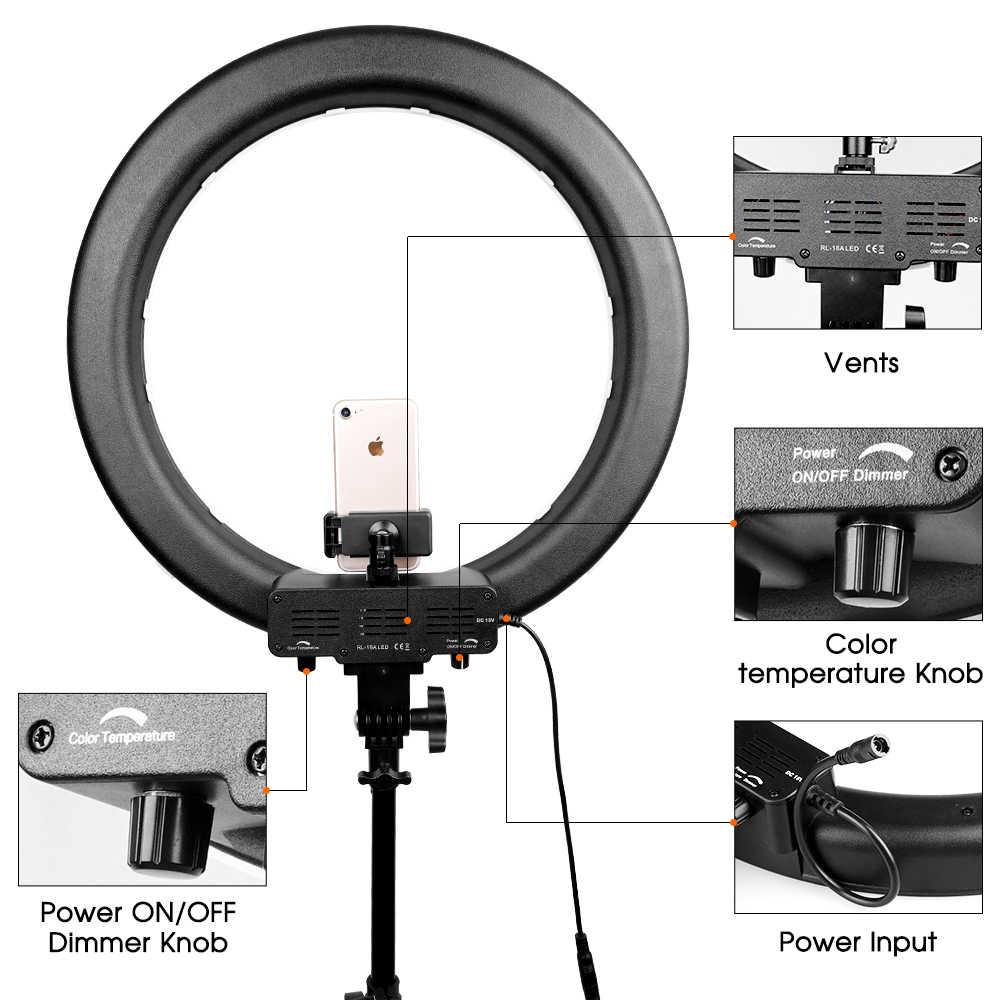 """Travor RL-18A Camera Photo Video 18 """"55 W 512 PCS do DIODO EMISSOR de 3200 K ~ 5500 K Regulável Anel Fotografia luz de vídeo para Câmera de Luz de Preenchimento"""