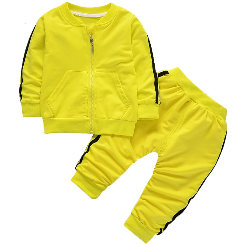 NEW 1-4Yrs Toddler Tracksuit Autumn Baby Clothing Sets Children Boys Girls Clothes Kids Hooded T-shirt And Pants 2 Pcs Suits