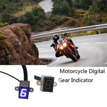 Синий светодиодный дисплей Универсальный мини цифровой индикатор измерителя рычаг переключения передач для мотоцикла датчик аксессуары для мотоциклов