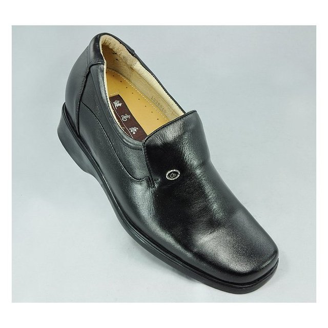 1238-Special offer Smooth Dress Oxford Black Calf Skin height increasing shoes 7CM for short men oxhide lace-on shoes Sz 37-44