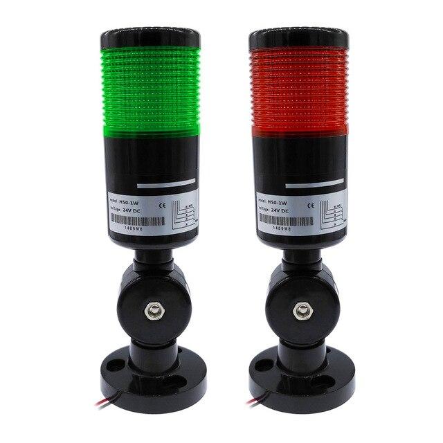 T50 Indicator light industrial folding LED warning lamp signal tower alarm caution light for machinery blink 12V 24V tower lamp