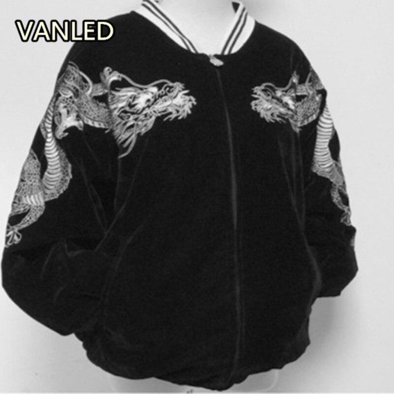 Японский Harajuku Стиль Новый Вышивка куртка Бейсбол любителей Для женщин пальто куртка ...