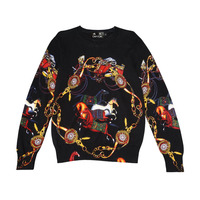 PP bag packing!Brand New Fashion Men Sweaters and Pullovers Horse Printed Top Quality knitting Sweater for Men