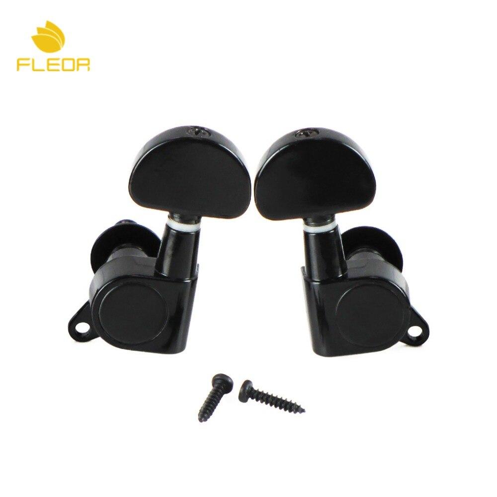 buy fleor 2pcs full sealed machine heads acoustic electric guitar string tuning. Black Bedroom Furniture Sets. Home Design Ideas