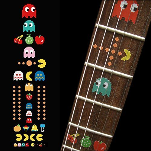 Fretboard Markers Inlay Sticker Decals for Guitar Bass - Pacman fretboard markers inlay sticker decals p35 al1 al2 for guitar and bass stars