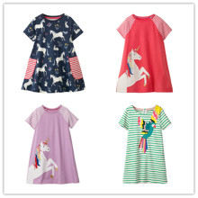 VIDMID baby girls dresses clothes kids cotton beach patchwork summer brand clothing for 2-7 years