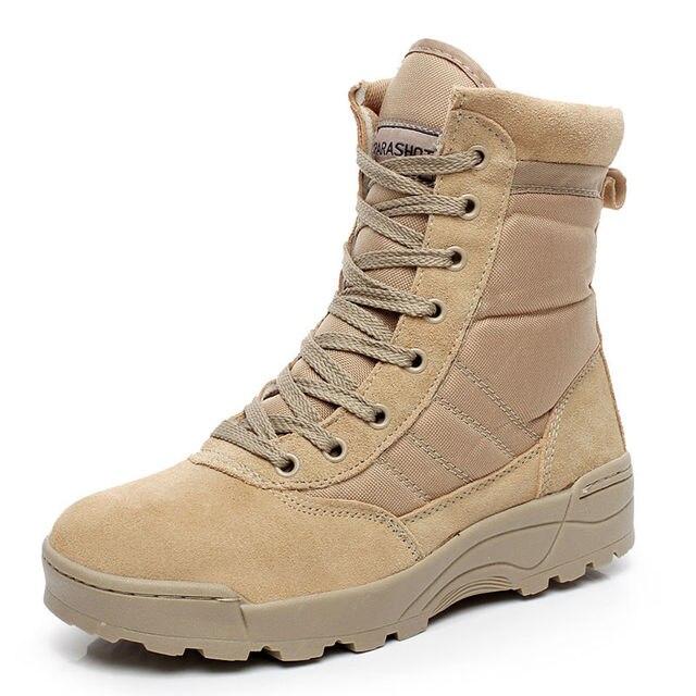 Плюс Размер Пустыне Тактические Военные Сапоги SWAT Боевые Армейские Ботинки Мужчины Обувь Работа Открытый Туризм Путешествия Альпинизм Мужчины Botas 38-47