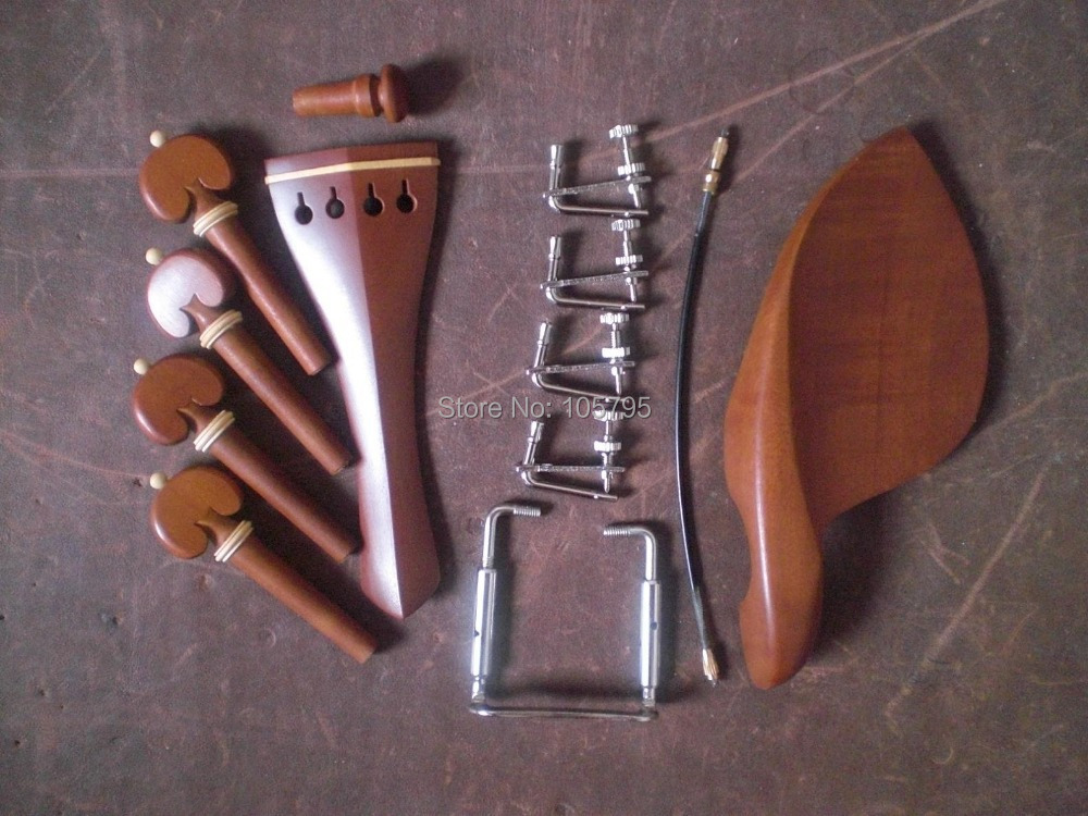 5 Sets Violin parts 4/4 Jujube wood with Silver Tuner Silver color Metal Clamp and Nylong tail gut пылесос hoover txp 1520 019 xarion pro
